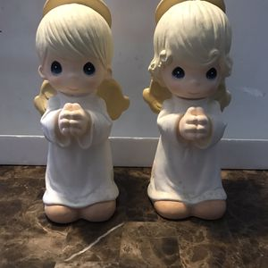 "Precious Moments Praying Angel Statue Set 2700 2701 Universal Statuary 13"" 1998 for Sale in West Dundee, IL"