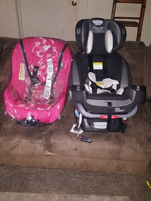 Graco 4ever Extend2Fit & Cosco Scenera Next Convertible Car Seat, Orchard Blossom Pink, both for $200 for Sale in Concord, NC