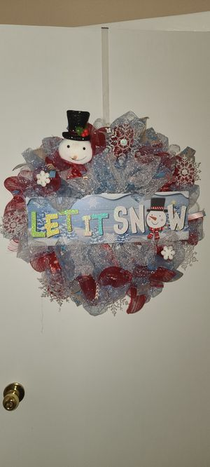 Let it Snow Wreath for Sale in Tampa, FL