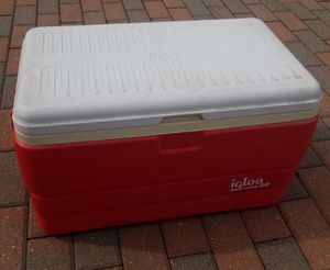 Excellent condition fishing style a glue cooler with measuring ruler on lid for Sale in Morton Grove, IL