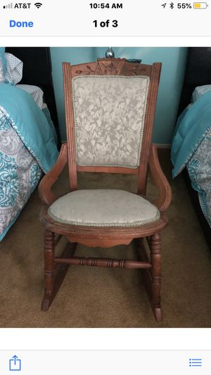 Antique Eastlake wooden child's rocking chair for Sale in Riverside, CA
