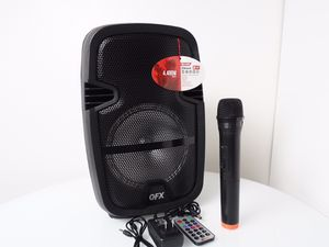 QFX PBX-61087 Portable Party Speaker with Stand and Wireless Microphone for Sale in Corona, CA