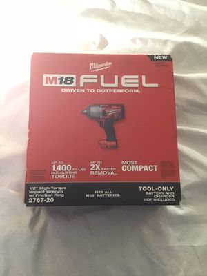 "Milwaukee High Torque 1/2"" M18 Fuel Impact Wrench NEW IN THE BOX 1400 LBS Nut Busting torque no charger or battery Firm on Price for Sale in Tacoma, WA"