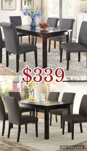 7pcs dining table set, table set, chairs for Sale in Los Angeles, CA