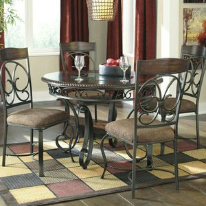 Glambrey Brown 5-Piece Round Dining Set by Ashley for Sale in Jessup, MD