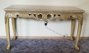 Heavy Marble Resin/Plaster Sofa & 3 End Tables for Sale in Puyallup, WA