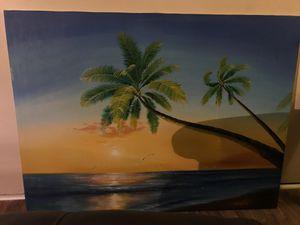 Big beach art canvas for Sale in Merritt Island, FL