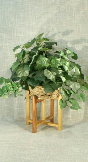"""Solid Wood Stand with Artificial Plant 20""""x20"""" *PICKUP ONLY* home decor, household, flowers for Sale in Mesa, AZ"""