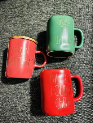 Rae Dunn Christmas mugs bundle for Sale in Fullerton, CA