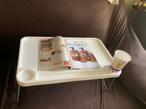 Lap desk - with collapsible legs (car, homework, laptop, breakfast in bed,) for Sale in Fresno, CA