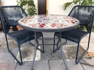 Outdoor Table & 2 Chairs for Sale in Fort Lauderdale, FL