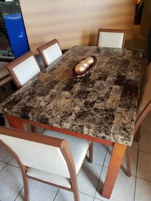 Marble dining room table set for Sale in Pembroke Pines, FL