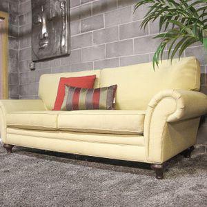 ***Green XL Linen Sofa (Free Delivery) for Sale in Atlanta, GA