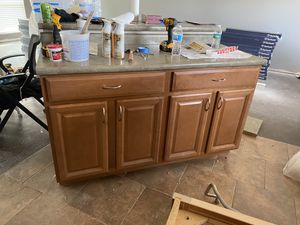 Oak kitchen cabinets for Sale in St. Louis, MO