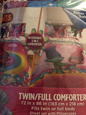 Trolls twin bedding for Sale in Las Vegas, NV