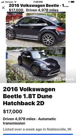 2016 BMW 1.8T Dune 2 D like new only 4,978 miles for Sale in Noblesville, IN
