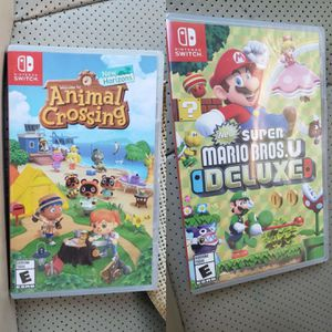 Animal Crossing & Mario Bros U Deluxe U Nintendo Switch game brand new Sealed never opened for Sale in Houston, TX