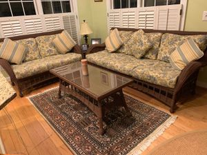 Sunroom Furniture Set - sofas and chair indoor/outdoor for Sale in Vienna, VA