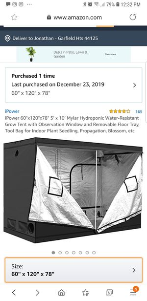 10 x 5 Grow Tent for Sale in Valley View, OH