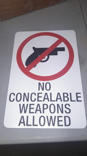 No weapons allowed sign for Sale in Monroe, NC