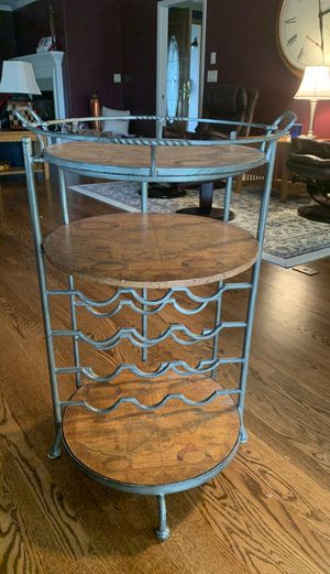 OLD WORLD WINE RACK. SERVING TRAY. $50.00 for Sale in Tacoma, WA