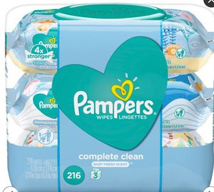 Pampers wipes, 216count, new for Sale in Miami, FL