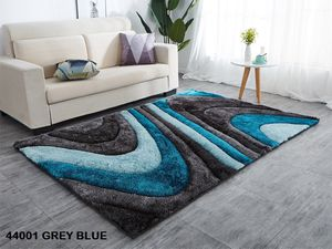 5x7 shaggy modern rug turquoise blue grey contemporary design carpet for Sale in Los Angeles, CA