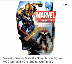Marvel Universe Marvel's Nova Action Figure MOC Series 5 #016 Sealed Comic Toy for Sale in Hawthorne, CA