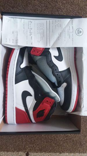 "Air Jordan Retro 1 ""Black Toe Satin"" size 8w / 6.5m for Sale in Houston, TX"