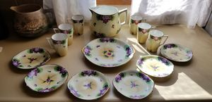 Gold Antique 14 piece Nippon Je-Oh China Violets for Sale in St. Louis, MO