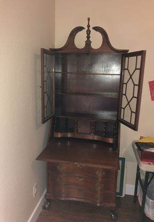 Antique Chippendale Desk Cabinet for Sale in Phoenix, AZ