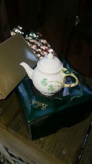 Belleek Porcelain Shamrock Weave Ornament from Ireland for Sale in Fairfax, VA