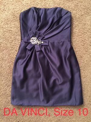 DA VINCI, Purple Strapless Dress, Size 10 for Sale in Phoenix, AZ