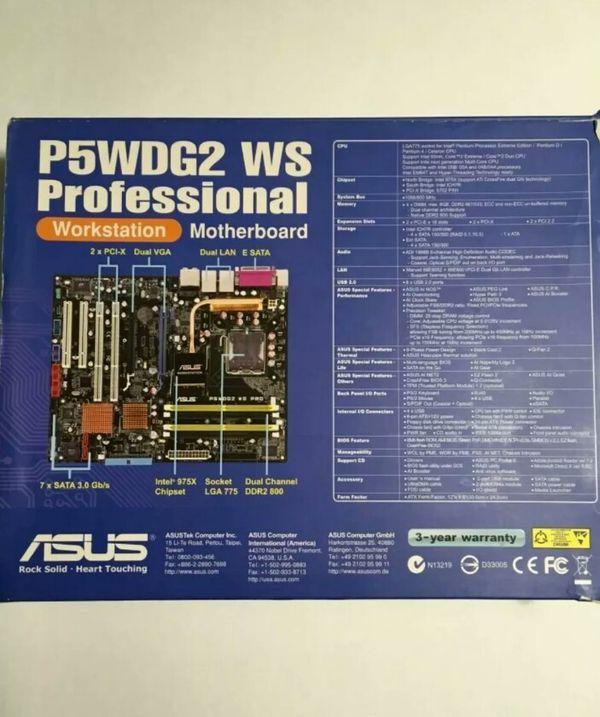 ASUS P5WDG2 WS Professional Workstation Motherboa