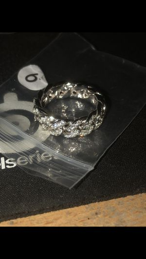 Brand new solid cuban link iced ring for Sale in Lawndale, CA