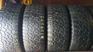 Set of 4 used 265/65R17 falken wildpeak at3w for Sale in San Diego, CA