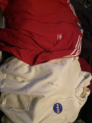 Adidas size large nasa size med fits like large both brand new for Sale in Bowie, MD