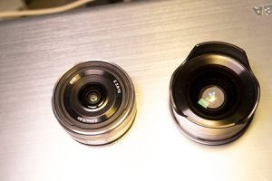 Sony e mount 16mm f2.8 with wide angle converter for Sale in Vienna, VA