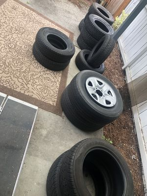 MESSAGE me and ask me what tires size you need I even have trailer tires for Sale in Bellevue, WA
