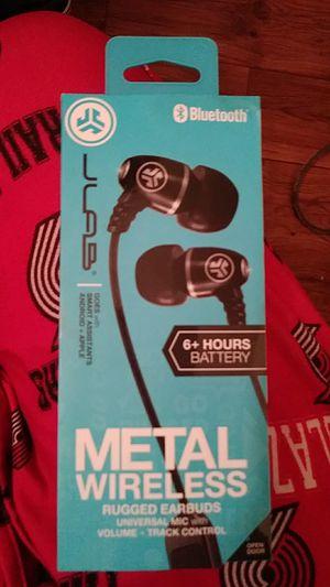 Bluetooth metal wireless Jlab earbuds for Sale in Portland, OR