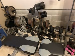 Weight lifting stuff(all different prices) for Sale in Beachwood, NJ