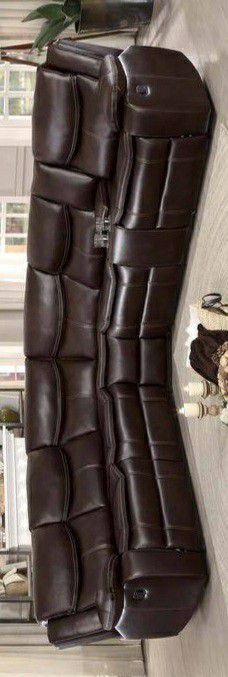 🍃the price is nice🍃Bastrop Brown Leather Gel Reclining Sectional for Sale in Jessup, MD