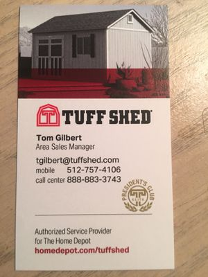 Tuff Shed buildings starting at $999: Built on site : Delivery and Installation are free: Call Tom Gilbert and I can custom size and design any type for Sale in Georgetown, TX