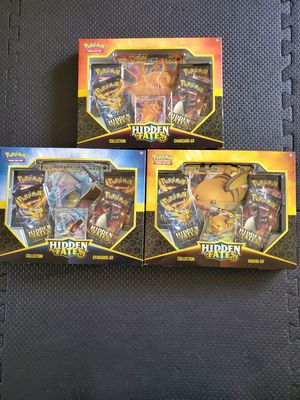 Pokemon Hidden Fates Charizard, Gyarados, Raichu GX Trading Card Game Box Set Bundle for Sale in Rowland Heights, CA