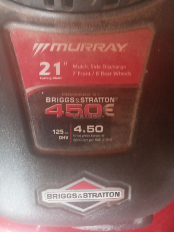 """MURRAY 125cc 450E Series 21"""" Push Mower with Side Discharge"""