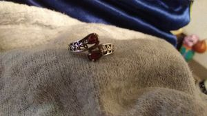 Beautiful silver with red stones ring for Sale in Duluth, GA