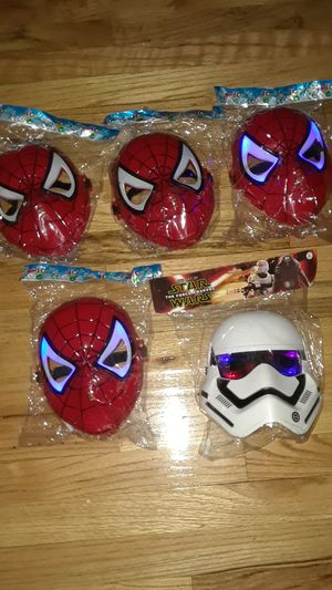 Light up led spider man / star wars Halloween mask sale for Sale in The Bronx, NY
