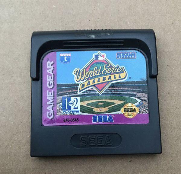Sega Game Gear World Series Baseball