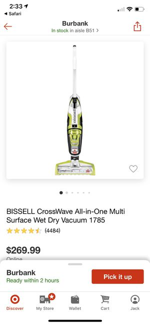 Bissell Crosswave wet/dry mop/vacuum. Great condition! for Sale in Los Angeles, CA