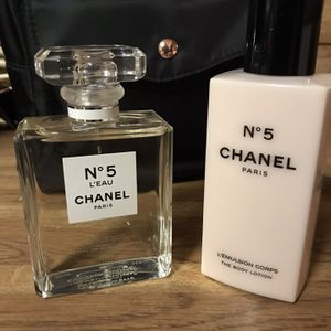 •CHANEL N°5 L'EAU PERFUME & BODY LOTION• for Sale in San Antonio, TX